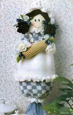 KITCHEN CUTIE BAG HOLDER DOLL CROCHET PATTERN INSTRUCTIONS ONLY FROM A BOOK