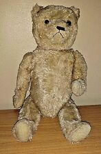 "Antique 19"" Cream Colored Mohair American Teddy Bear"