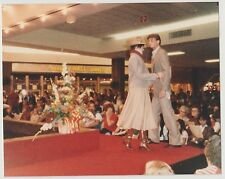 Vintage 80s PHOTO Couple Models At Shopping Mall Fashion Show