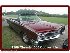 1966 Chrysler 300 Convertible Refrigerator / Tool Box  Magnet Man Cave Item