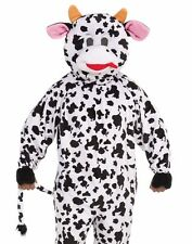 Cow Costume Mascot Adult Plush Furry Deluxe Dairy Bovine Cosplay - Fast Ship -
