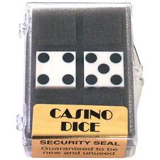 Dice 2-Pack White Precision 19mm (Casino) Magic Trick close-up