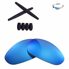 WL Ice Blue Polarized lenses And Black cw Ear socks T-shocks for Oakley Juliet
