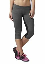 REEBOK Crossfit Woman's Grey & Black BND 3/4 Tight Pants, Sz S NWT
