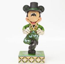 JIM SHORE DISNEY Figurine MICKEY MOUSE in IRELAND Irish Costume GREEN JIG DANCE