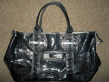Guess Purse Handbag Rhinestone Bag Carry Small Large Namebrand Animal Skin Nice