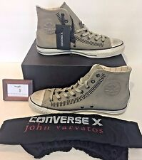 CONVERSE X MENS SIZE 9.5 RARE JOHN VARVATOS CT HI DRILL BLACK SNEAKERS W / BAG