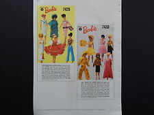 Barbie, McCalls 1966, Counter Catalog, Fashions, one Double Sided page #1