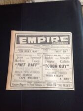 65-1 Ephemera 1936 Advert Jean Harlow Riff Raff  Empire Cinema Swindon