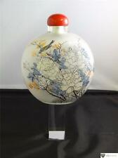 Chinese Interior Painted Glass Snuff Bottle, Pale Colours, Circa 20th Century