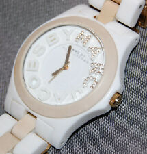 Marc by Marc Jacobs Women's White/Cream Platic Band Watch MBM8528 NEW BATT