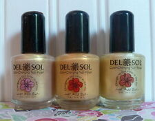 SET OF 3 DEL SOL COLOR CHANGING NAIL POLISH - FIRST KISS - SUN KISSED - SASSY