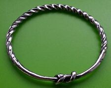 Small Viking Twist Bracelet Solid Hand Crafted Pewter