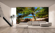 Palm Trees on Tropical Beach Wall Mural Photo Wallpaper GIANT WALL DECOR