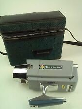 Technicolor Mark Ten Super 8 Movie Camera Blue Tweed Burlap Case