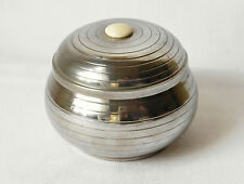 "Vintage Fine Pewter French Art Deco Trinket Box 3 1/2"" High"