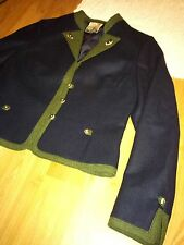 German loden womens blue wool hunting trachten military blazer jacket riding S