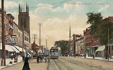 Broad Street Looking South in Elizabeth NJ Postcard