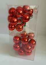 2 x John Lewis Red Mini Cluster Ball Baubles Tree Ties Christmas Decorations