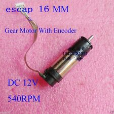 ESCAP 16 Coreless DC 12V 540RPM Gear Motor 16MM With Encoder