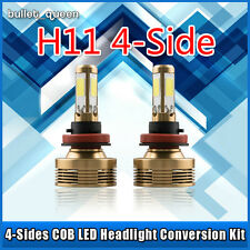 120W 12000LM H11 LED Headlight Fog Light Low Beam Bulbs Kit 6000K White 4-Sides