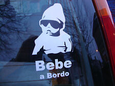 SPANISH  COOL BEBE a BORDO  CAR WINDOW STICKER VINYL DECAL VW SPAIN