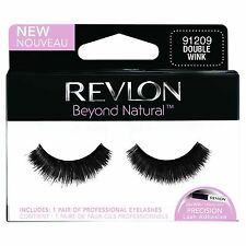 REVLON FALSE EYELASHES EYELASH EYE LASH LASHES DOUBLE WINK 91209 BLACK