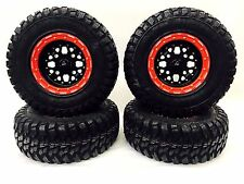 "DWT 14"" SECTOR BEADLOCK WHEELS RIMS RINGS GBC KANATI MONGREL 30"" TIRES BLACK RED"