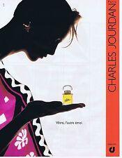 PUBLICITE ADVERTISING 045 1990 CHARLES JOURDAN parfum Vôtre l'autre émoi