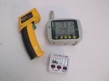LAB LOT Thermometers and Timer       Fluke 62 Extech 42280  VWR