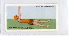 (Ja1971-100) Ogdens,How To Swim,Back Crawl Stroke Arm Action 3rd Pos,1935#46