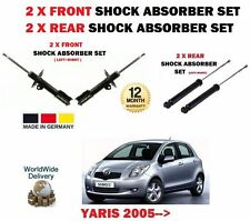 FOR TOYOTA YARIS 1.0 1.3 1.5 1.4 D4D 2005-  2X FRONT 2x REAR SHOCK ABSORBER SET
