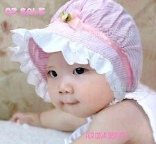 Baby Girls Sweet Pink Cotton Soft Outdoor Summer Bonnet Beanie Sun Hat Cap Gift