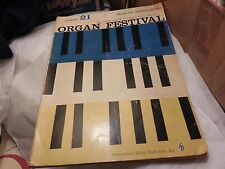 Organ Festival: spinet, pipe, or Hammond, 1957, Music for Millions