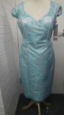 Silver Grey and Turquiose Floral Dress from Michaela Louisa size 12