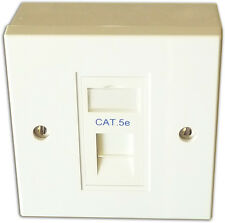 5x CAT 5E 1 modo dati rete OUTLET, FACEPLATE, modulo, BACKBOX. LAN Ethernet