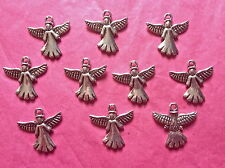 Tibetan Silver Angel Charm/Pendant pack of 10