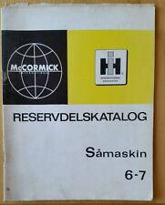 Catálogo De Piezas De Taladro McCormick International 6-7