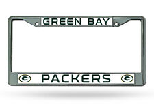 Green Bay Packers Chrome Metal License Frame [NEW] NFL Car Auto Plate Tag CDG