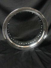 "EXCEL 18"" X 5.50"" 40 HOLE CHROMED ALLOY WIDE RIM HARLEY HD CUSTOM BOBBER CHOPPER"
