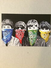 MR BRAINWASH, The Beatles, Bandito's exhibition promotional card, 2012