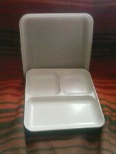 VINTAGE TUPPERWARE /ULTRA 21 OVENWARE- Microwave-DIVIDE-A-DISH WITH LID