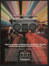 1982 EARTH WIND and FIRE Band -PANASONIC RX-5085 & F20 Stereo Boombox VINTAGE AD