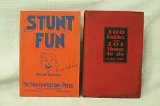 LOT 2 old books STUNT FUN skits plays Pantomime 100 RIDDLES AND 101 THINGS TO DO