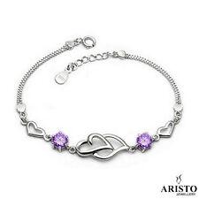 Open Heart 925 Sterling Silver Bracelet Charm Jewellery Womens Ladies Gifts