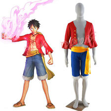 Cafiona Hotsale One Piece Monkey D Luffy Cosplay Costume Captain Outfit Any Size