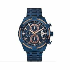 Guess W0522G3, Full Blue & Rose gold Executive Style Chronograph Watch for Men
