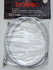 """Vintage Bicycle Front Brake Cable 35"""" White 26"""" Casing Retro Ferrule Pear Ended"""