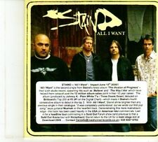 (DP567) Staind, All I Want - 2008 DJ CD