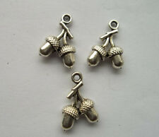 30pcs Tibetan silver charm pendant in the shape of hazelnut 17x12mm